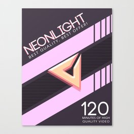 NEONLIGHT (Mock Blank VHS Poster) Canvas Print