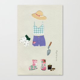 Gardening Outfit Canvas Print