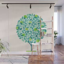 Mid Century Lime Tree Wall Mural