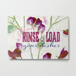 Sweetly Rinse and Load Metal Print