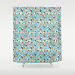 Chibilock Pattern Shower Curtain