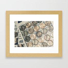 Vintage Bingo Board Game 9 Framed Art Print