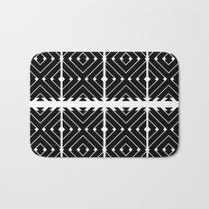 MONOCHROMA Geometrica : Black & White Box Pattern Bath Mat