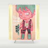 kevin russ Shower Curtains featuring Kevin Freakin' Solo by Ravenno