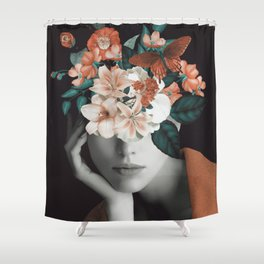 WOMAN WITH FLOWERS 7 Shower Curtain