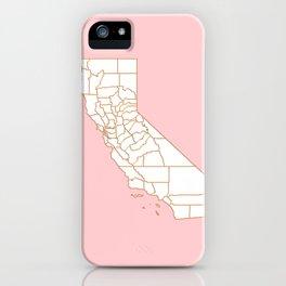 California gold map iPhone Case