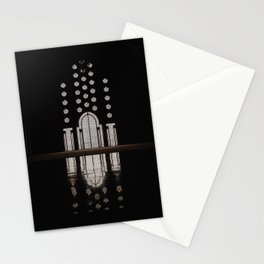 Islamic Architecture Inside Mausoleum Window Geometric Pattern Silhouette Mysterious Stationery Cards