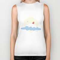selena gomez Biker Tanks featuring Gomez Sleeping on a Cloud by Paul Scott (Dracula is Still a Threat)