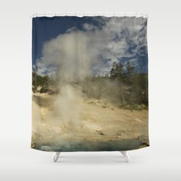Norris Geyser Basin - Beryl Spring Shower Curtain