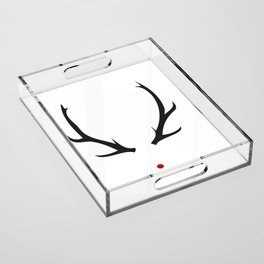 Minimalist Rudolph with red nose Acrylic Tray