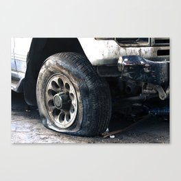 Flat Tire! Canvas Print
