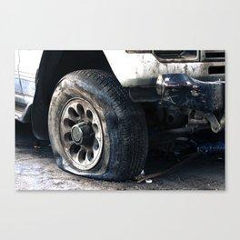 Flat Tire! Canvas Print