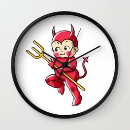 Little Red Devil Kewpie Baby Wall Clock
