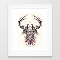 deer Framed Art Prints featuring deer by yoaz