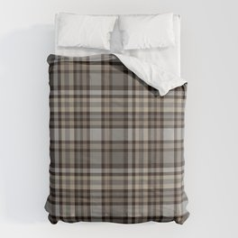 Brown & Grey Checked pattern Comforters
