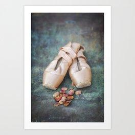 Pointe Shoes Art Print