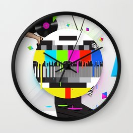 Molten Colour Bars Wall Clock
