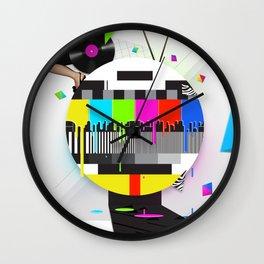 Molten Colour Bars Wall Clock