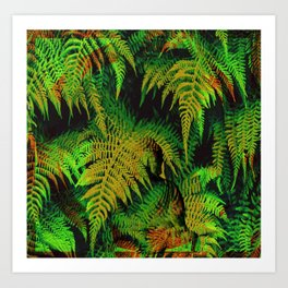 Camouflage Hidden Buddha in Ferns Art Print