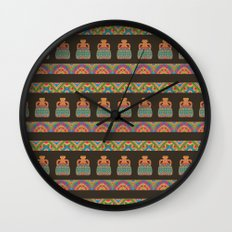 Traditional African Tribal Pottery Pattern Wall Clock