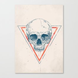 Skull in triangle II Canvas Print