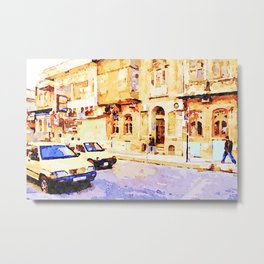 Taxi through the streets of Aleppo Metal Print