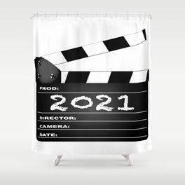2021 Clapper Board Shower Curtain
