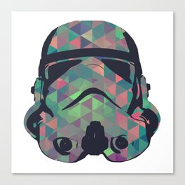 Stormtrooper Hipster Fashion Collection - Triangles Canvas Print