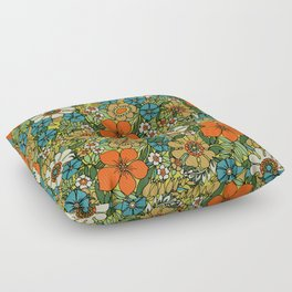 70s Plate Floor Pillow