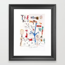 The Time To Be Happy Is Now Framed Art Print