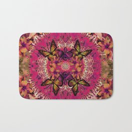 Victoria Mandala Collage Bath Mat