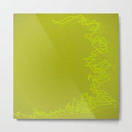 Bang yellow Metal Print