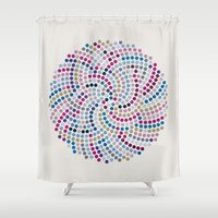 aelwen Shower Curtains featuring High Life (III) by Angelo Cerantola