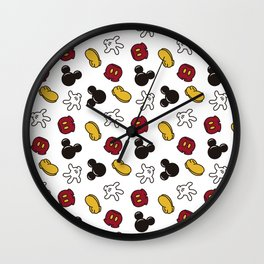 Mickey Mouse icons Wall Clock