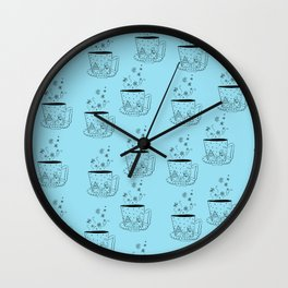A cup of snow flakes Wall Clock