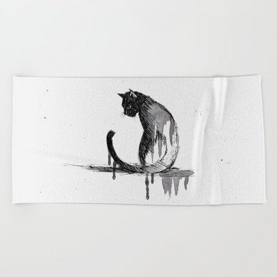 Here, Kitty Cat! Beach Towel
