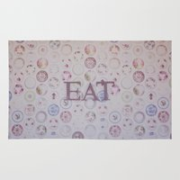eat Area & Throw Rugs featuring Eat by Hello Twiggs