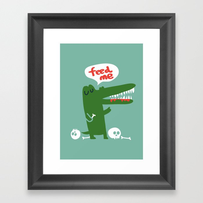 Hungry Hungry Alligator Framed Art Print