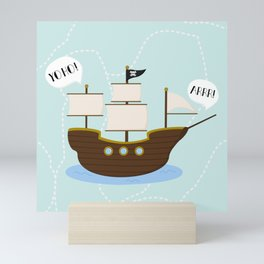Pirates Yo Ho! Mini Art Print