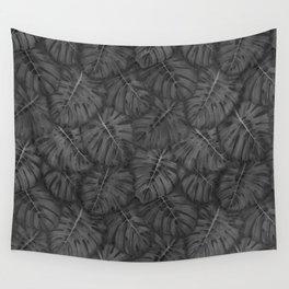 NOIR MONSTERA, pattern by Frank-Joseph Wall Tapestry