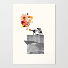 in bloom (black & white) Canvas Print