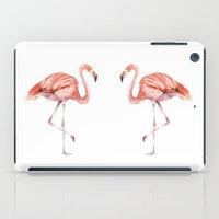 onesie iPad Cases featuring Pink Flamingo by Goosi