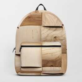 Background of wooden pieces Backpack