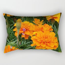 Marigolds with a touch of pink Rectangular Pillow