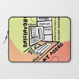Organizing - Zine Page Laptop Sleeve