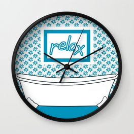 Take Time To Relax Wall Clock