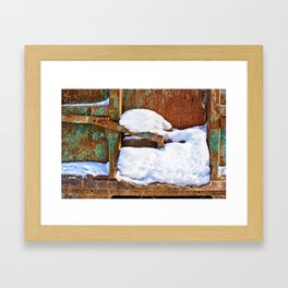 Remnants of Winter Framed Art Print