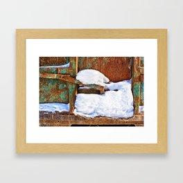 Remnants of Winter Framed Art Print