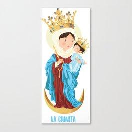 Nuestra Señora del Rosario de Chiquinquirá Canvas Print
