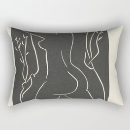 ...She Places Her Cheek There... She Embraces It... by Henri Matisse Rectangular Pillow